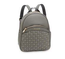 Batoh Grey Quilt & Stud Backpack School Bag
