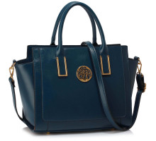 Kabelka Navy Metal Detail Grab Tote Handbag