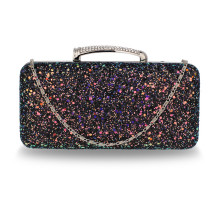 Psaníčko Black Glitter Evening Wedding Clutch Box