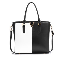 Kabelka Black / White Split Design Tote Handbag