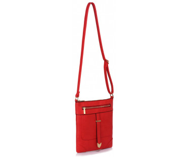 Kabelka Red Buckle Detail Crossbody Bag