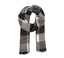 Šála Grey Women's Check Print Winter Scarf - šedá