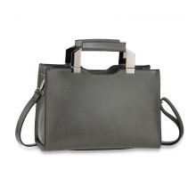 Kabelka Grey Anna Grace Fashion Tote Bag With Black Metal Work