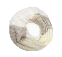 Šála Beige Women's Faux Fur Trim Winter Scarf