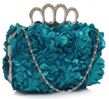 Psaníčko Teal Women's Knuckle Rings Evening Bag