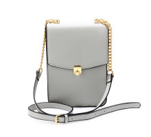 Kabelka Grey Flap Twist Lock Cross Body Bag