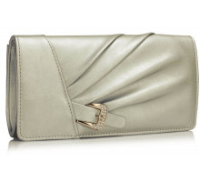 Psaníčko Silver Sparkly Crystal Satin Evening Bag