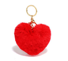 Přívěsek na kabelku Red Fluffy Heart Bag Charms