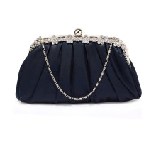 Psaníčko Navy Sparkly Crystal Satin Evening Clutch