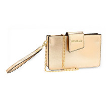 Kabelka Gold Cross Body Shoulder Bag With Wristlet