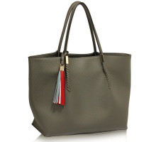 Kabelka Grey Tassel Charm Shoulder Bag