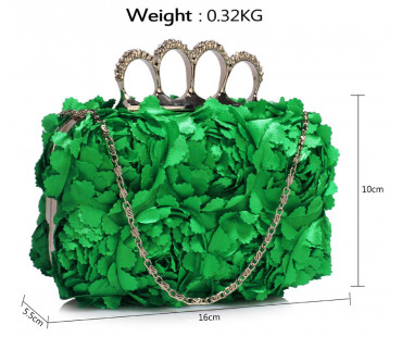 Psaníčko Green Women's Knuckle Rings Evening Bag