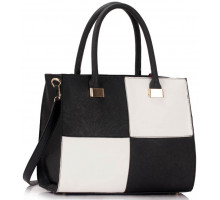 Kabelka Black / White Fashion Tote Handbag