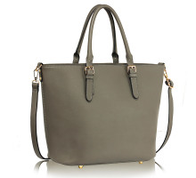 Kabelka L&S Fashion Grey Grab Shoulder Handbag - šedá