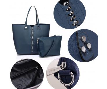 Kabelka Anna Grace Navy Shoulder Bag With Removable Pouch - modrá