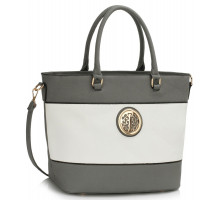 Kabelka Grey / White Shoulder Handbag