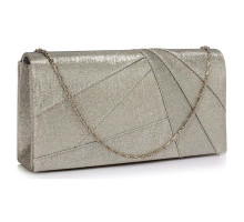 Psaníčko Silver Satin Clutch Evening Bag