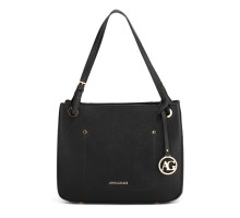 Kabelka Black Anna Grace Fashion Tote Handbag
