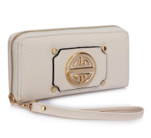 Peněženka Cream Purse/Wallet with Metal Decoration