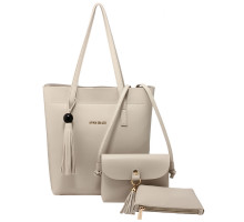 Kabelka  - 3 kusový set Light Grey Women's Fashion Handbags