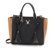 Kabelka Black / Nude Women's Tassel Shoulder Handbag