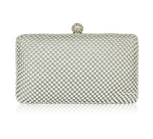 Psaníčko Silver Crystal Beaded Evening Clutch Bag