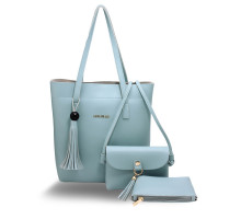 Kabelka - 3 kusový set Blue Women's Fashion Handbags