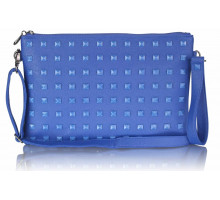 Psaníčko Blue Studded Clutch Purse