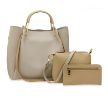 Kabelkový set Grey / Nude Women's Fashion Handbags
