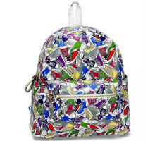 Batoh Grey Sneaker Print Backpack School Bag