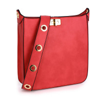 Kabelka Anna Grace Red Twist Lock Cross Body Bag