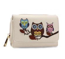Peněženka Ivory Flap Owl Design Purse / Wallet
