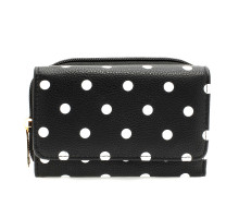Peněženka Black Polka Dot Design Purse/Wallet