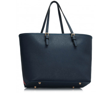 Kabelka Navy Zip Detail  Butterfly Print Tote Bag