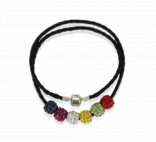 Náhrdelník Multi Coloured Womens Crystal Necklace