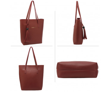 Kabelka - 3 kusový set Burgundy Women's Fashion Handbags