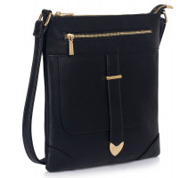 Kabelka Black Buckle Detail Crossbody Bag