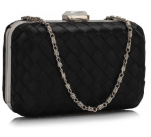 Psaníčko Gorgeous Black Hard Case Evening Bag