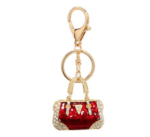 Přívěsek Gold Metal Crystal Purse Bag Charm