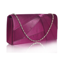 Psaníčko Purple Satin Clutch Evening Bag - fialové