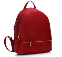 Batoh Red Backpack Rucksack School Bag - červený
