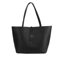 Oboustranná kabelka Black/Blue Large Tote Bag