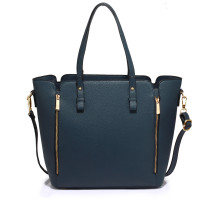 Kabelka Anna Grace Navy Zipper Shoulder Bag - modrá