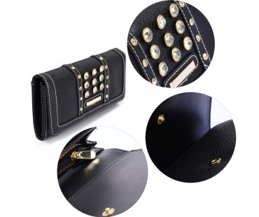 Peněženka Black Purse/Wallet With Crystal Decoration