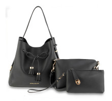 Kabelka 3 kusový set Black Women's Fashion Handbags