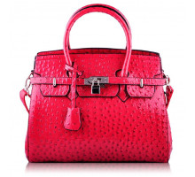 Kabelka Luxury Pink Ostrich Effect Tote Bag