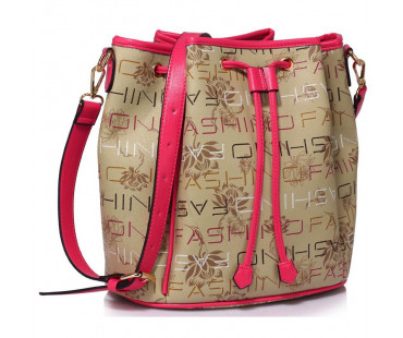 Kabelka Beige Drawstring Shoulder Bag