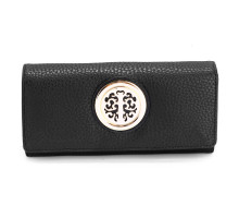 Peněženka Black Purse/Wallet with Metal Decoration - černá