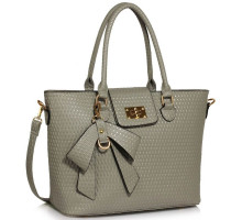 Kabelka Grey Grab Bag With Bow Charm