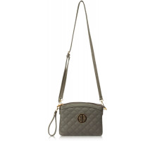 Kabelka Grey Cross Body Bag School Messenger Shoulder Bag - šedá